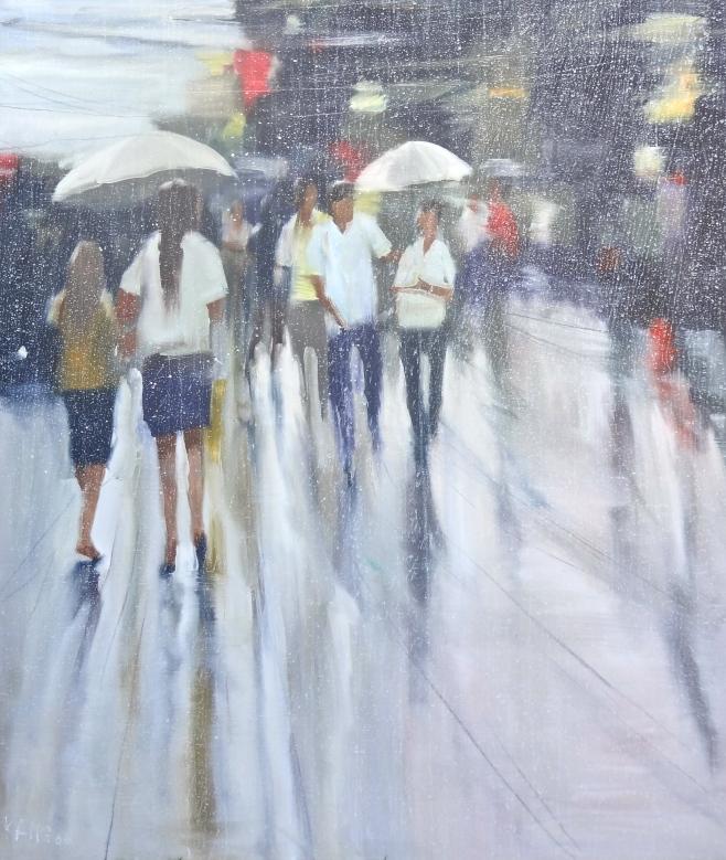 """""""Rainy Day"""" 110 x 130cm"""