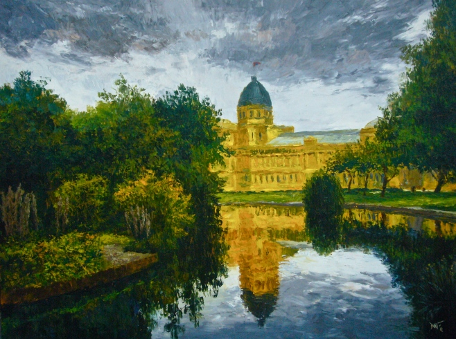 """Melbourne's Royal Exhibition Buildings"" Oil, 160x120cm (diio)"