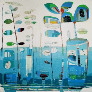 """The Pond"", Tiffany Calder Kingston, 90cm x 90cm"