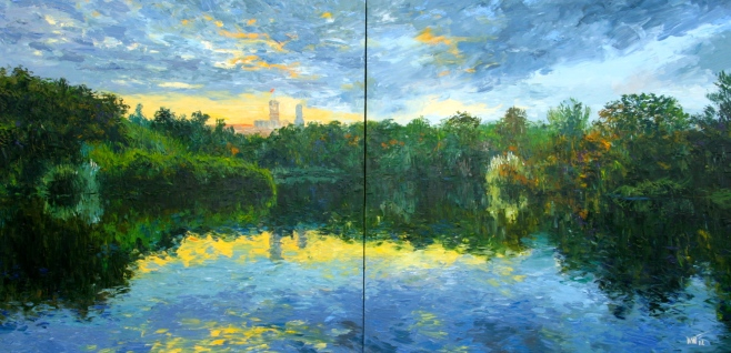 "Dusit ""Government House, Melbourne"" 280x140cm Oil on Canvas"