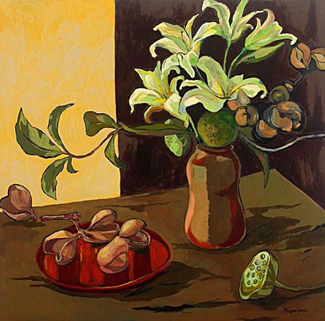 """""""Lillies"""" 100cm x 100cm (aiio)"""