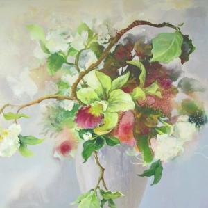 """""""Floral Arrangement 1""""100x100cm (aiio)"""