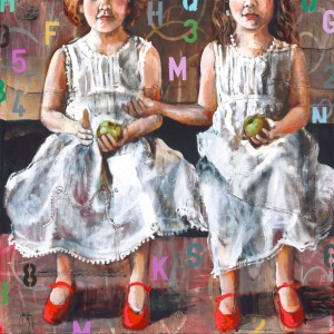 """Twins"" L/E Giclee print"