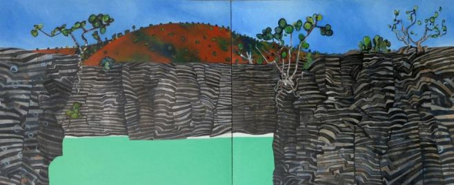 """Ragged Head"", diptych 72cm x 170cm"