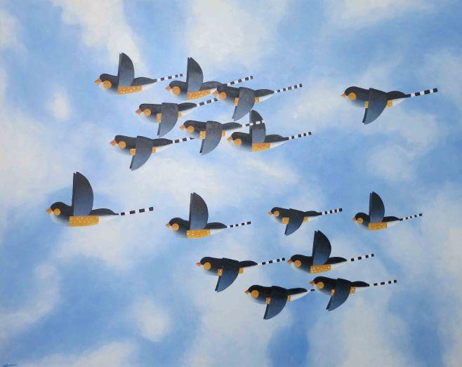 """Flock V"" 152cm x 122cm (ciio)"