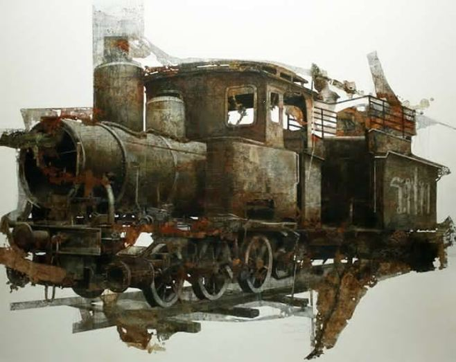 """Old Train"" 200x140cm"