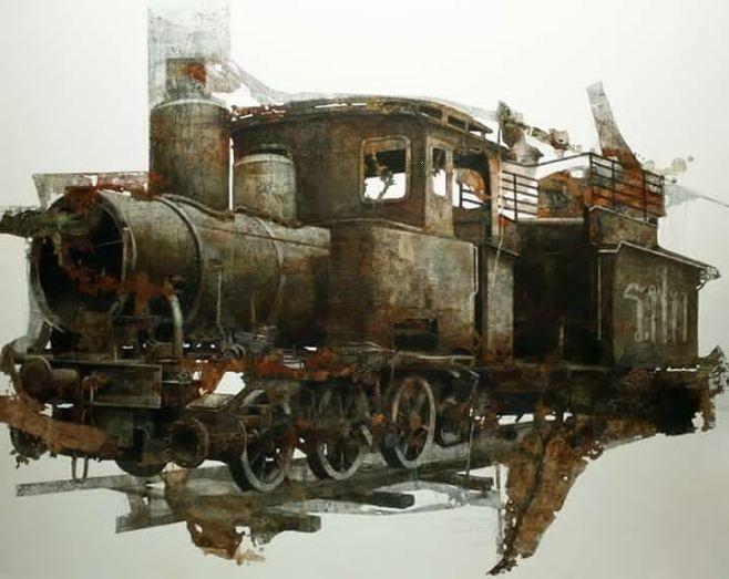 """Old Train"" 200x140cm"