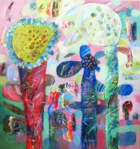 """Kaleidoscope Garden""140x160cm (ciio)"