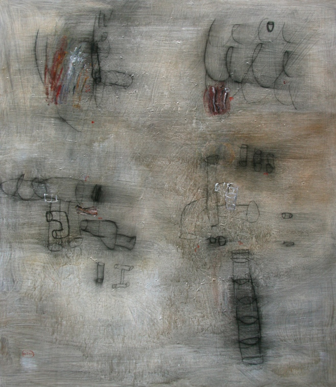 """Lonely Wall"" 140x160cm, (dooo)"