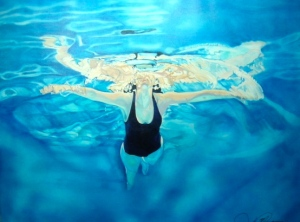"105x80cm Undercurrent ""Suspension"" Oil On Linen $2750"