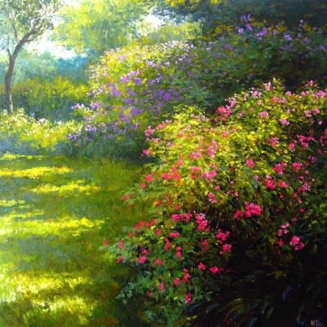 """Sunny Glade""140X140cm Oil On Canvas (biio)"