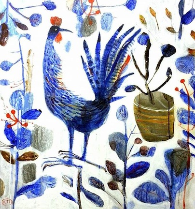 """""""Roosters I"""" 80x80cm"""