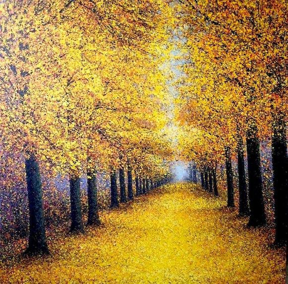"""""""Autumn Pathway"""" 120x120cm"""