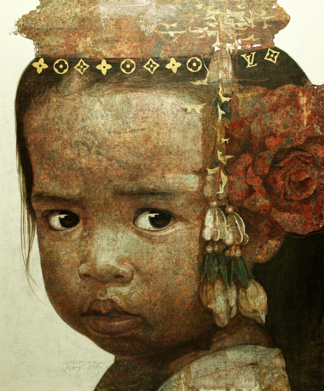 "Jirasak ""Little Girl"" 140x170cm (iiio)"