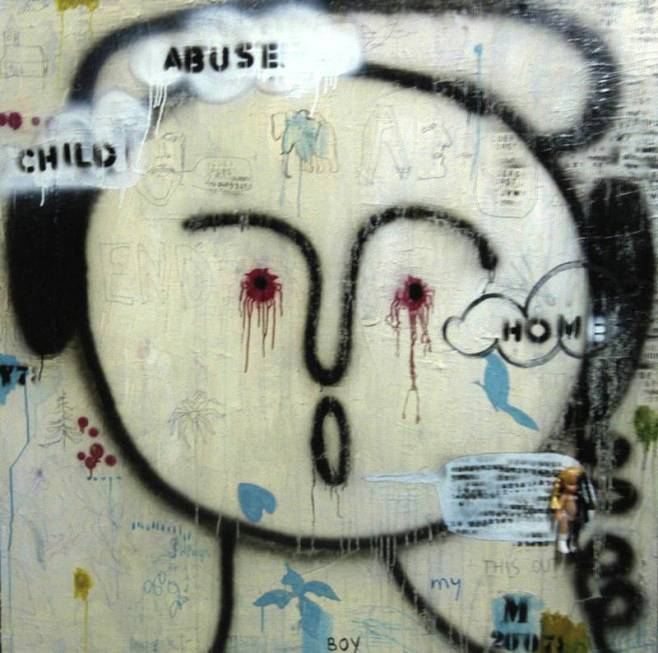 """Child Abuse"" 150x150cm"