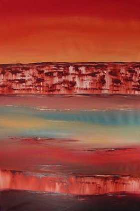 Ancient Lands by Denise Walker. 100x150cm