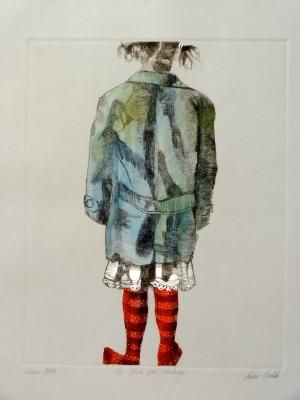 """The Hail Spot Stockings"" Image size: 40 x 51cm"