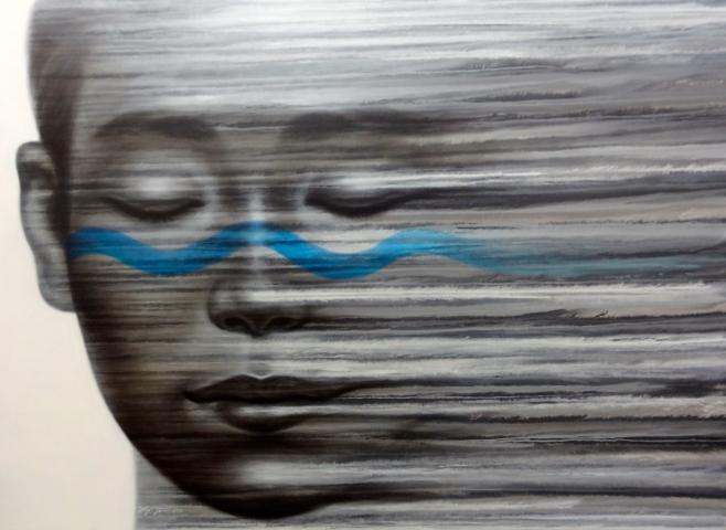 """""""Blue Line"""" 200x145cm (giio)"""