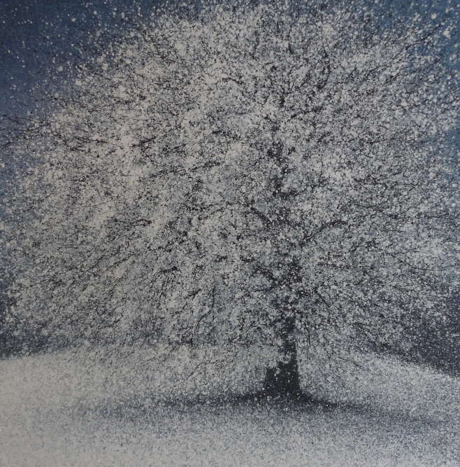 Winter Tree 150x150cm (iiio)