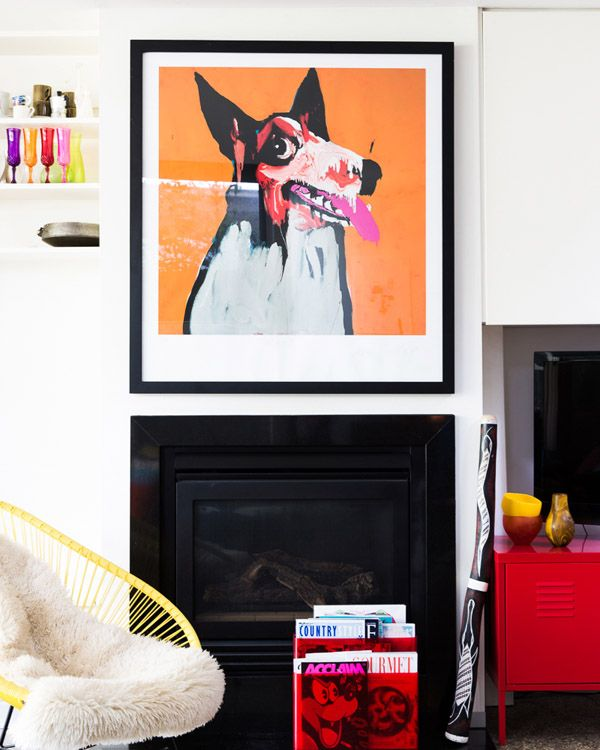 The Orange Growler in the home of local illustrator Letitia Green's home.