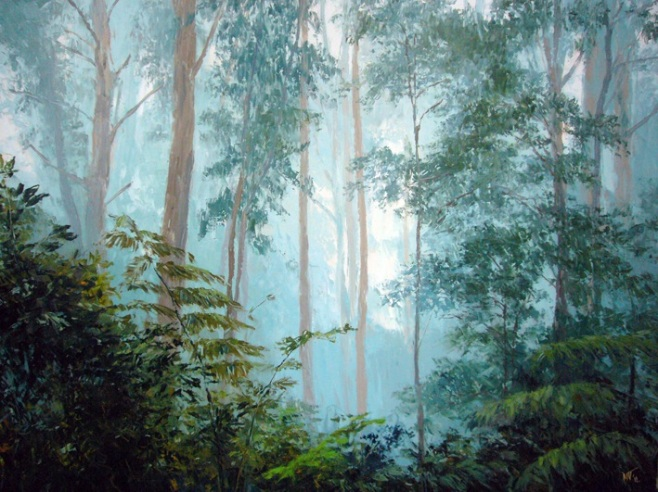 """Sherbrooke Mist"" Oil, 120x160cm (ciio)"