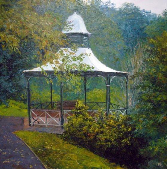 """""""Pirianda Gardens, Olinda"""" 140cm x 140cm (biio)"""