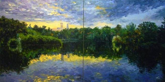 Government House, Melbourne 280x140cm Oil on Canvas (iiio)
