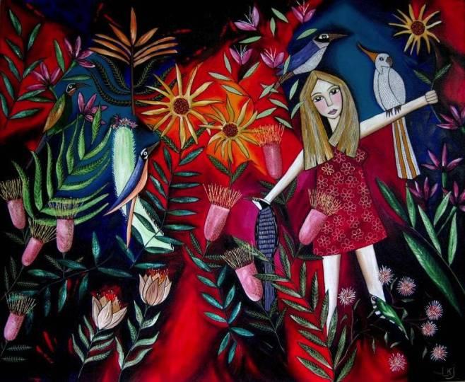 """Leigh Karen Joyce, """"My Garden"""", 120x90cm, $1,990"""