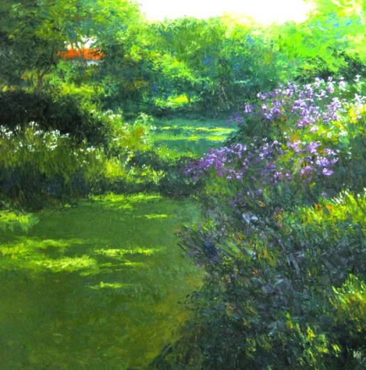 """Shady Glade""  140x140cm Oil on Canvas (biio)"