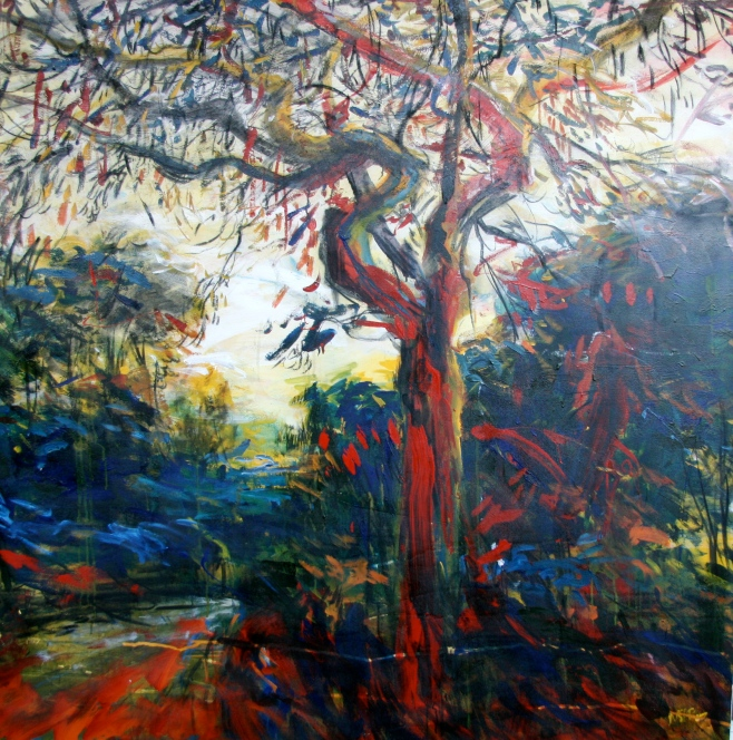 """Flame Tree"" 140cm x 140cm (biio)"