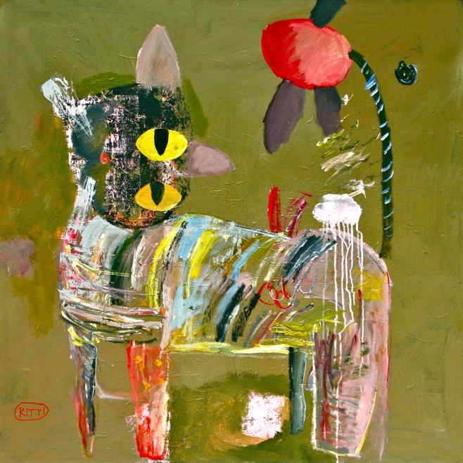 "Kitti Narod ""Kitti's Kat"" 120cm x 120cm (beoo)"