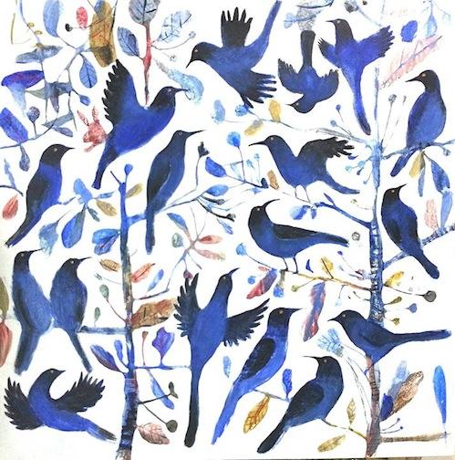 """""""Birds"""" 100x100cm"""