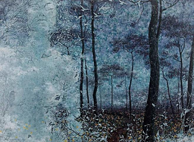"""""""Ghostly Forest"""" 120cm x 90cm (ciio)"""