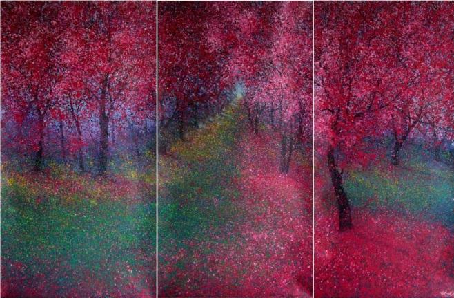 """""""Spring Triptych II"""" 300x190cm"""