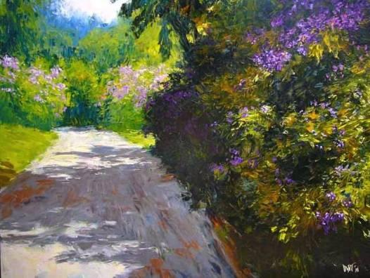 """""""Melbourne Botanic Gardens""""  100x80 (aiio)"""