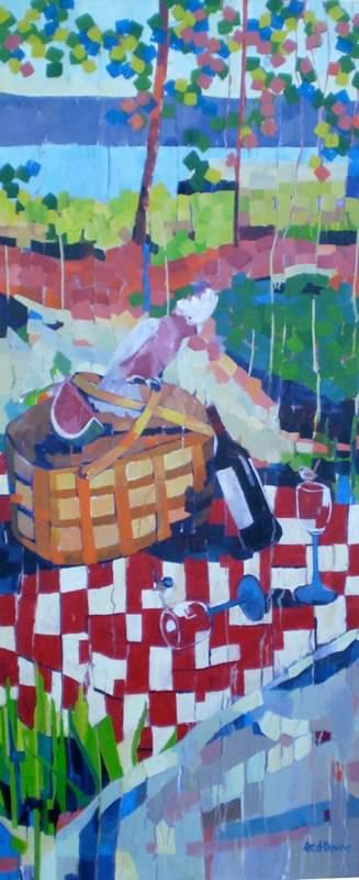 """The Picnic"" #3, 76x183cm, triptych"