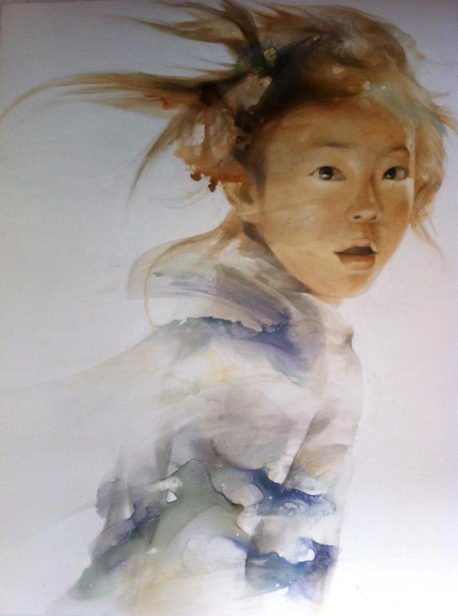 """Awakening"" by Silawit Poolsawat. 145x190cm."