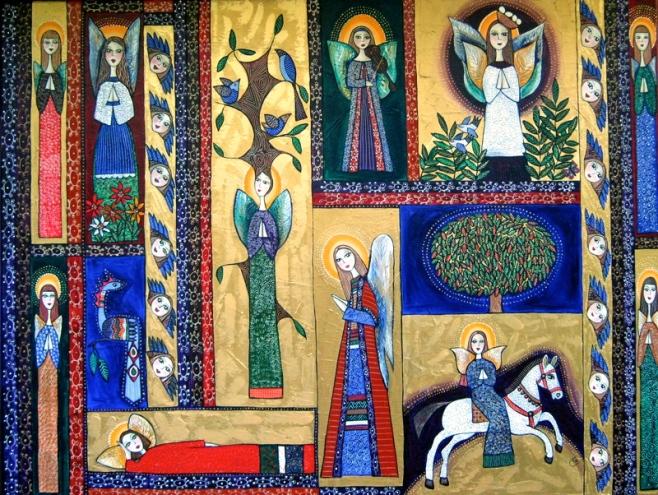 """""""The Blessing"""" by Leigh Karen Joyce 120x90cm (aiio) Acrylic on Canvas"""