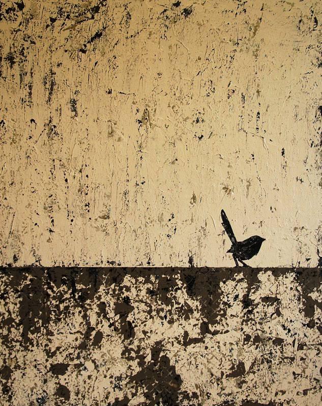"""""""Bird on the Beach"""" 153x122cm"""