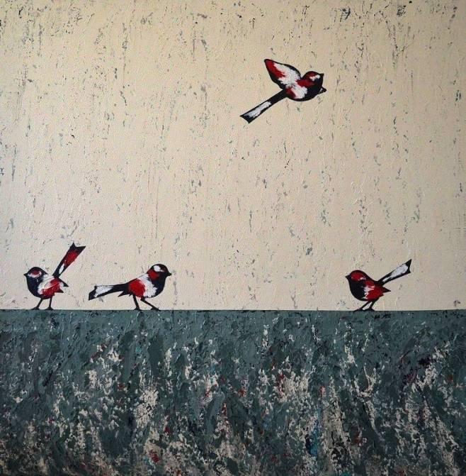"""Flying High"" 153x153cm"