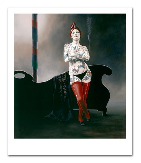 """Tattoo Queen"", Limited Edition Giclee, Image size 60x90cm, $895"