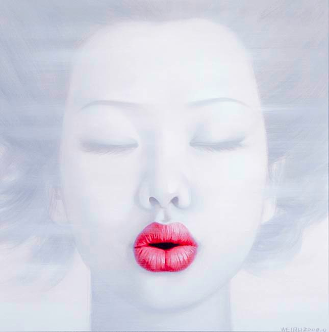 """Lips 2"" Image 70x70cm Paper 87x91cm  Printed on 308gsm Acid Free Archival Rag  $495"