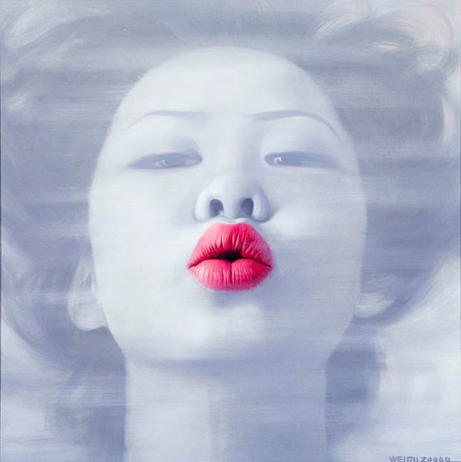 """Lips I"" Image 70x70cm Paper 87x91cm Printed on 308gsm Acid Free Archival Rag  $495"
