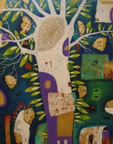 "Cheryl Petersen, ""Tree of Life"", 150x110cm"