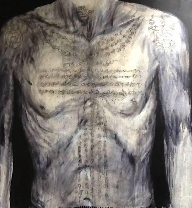 """Tattooed Torso"" 135x145cm (cboo)"