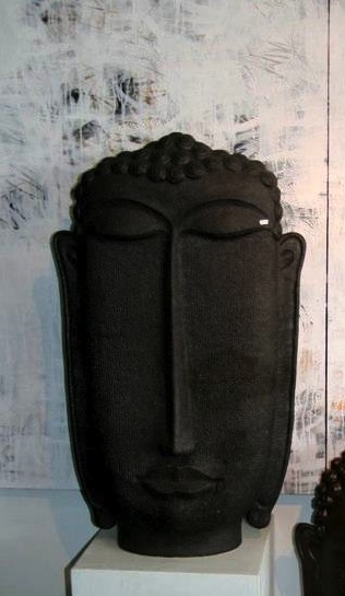Bronze cast Buddha head sculpture  Approx. 60x40cm (biio)