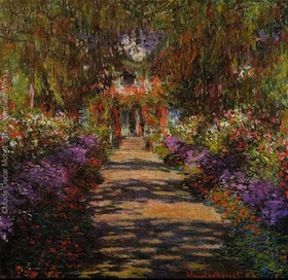 "Claude Monet, ""Pathway In Monets Garden At Giverny"""