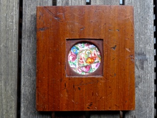 Handmade collectible with pink floral tile SOLD