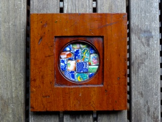 Handmade collectible with bird mosaic SOLD