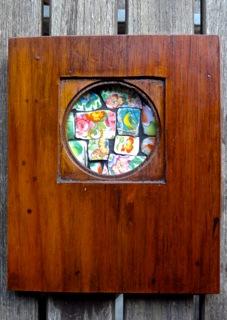 Handmade collectible with flower mosaic rectangular $199